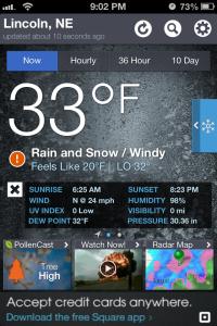 5.1.2013 weather snapshot